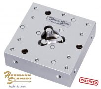 """Hermann Schmidt Stainless Steel Precision Three Jaw Chuck – Square .020"""" – 1"""" Capacity"""