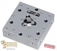 """Hermann Schmidt Stainless Steel Precision Three Jaw Chuck – Square 1"""" – 2"""" Capacity"""