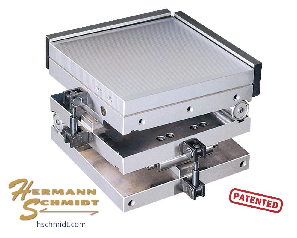 Compound Fine Pole Magnetic Sine Plate 6 x 6 CM6x6FPHL Shown