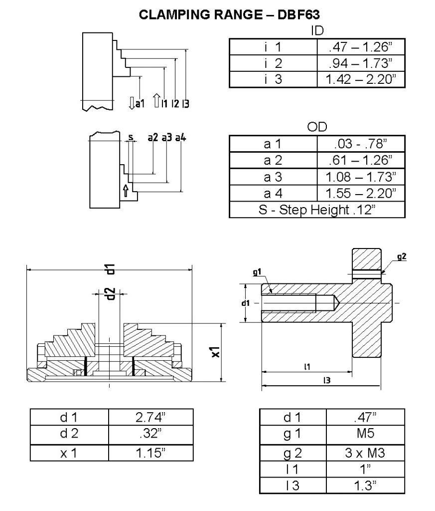 Koch stainless steel scroll chuck dbf63 hermann for Koch 63 od manual