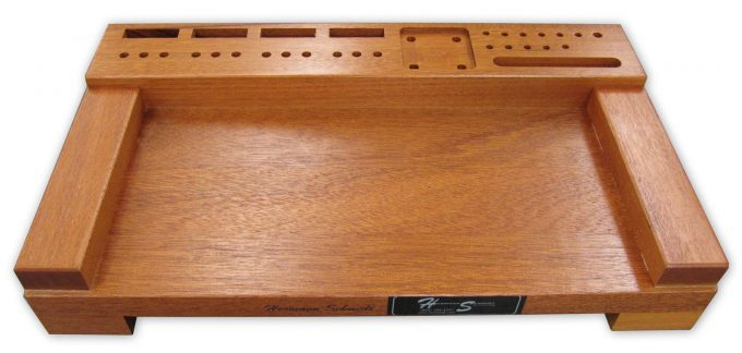 "Mahogany Tray for 6"" x 12"" Sine Plate"